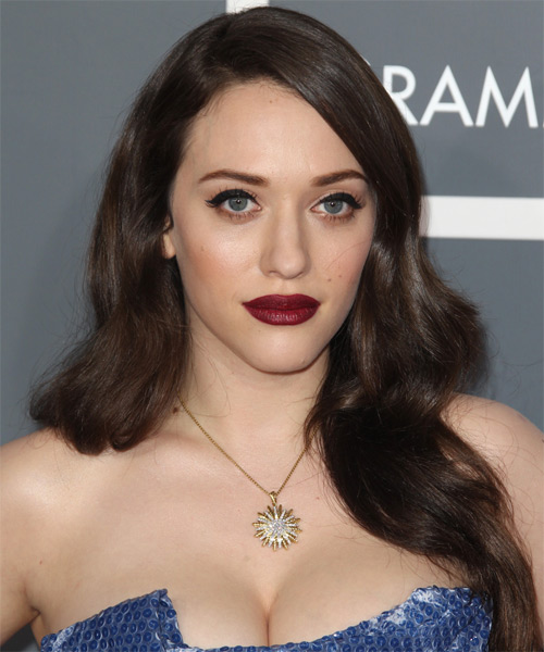 Kat Dennings Long Straight Formal Hairstyle - Medium Brunette Hair Color