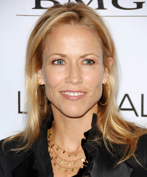 Sheryl Crow Long Straight Hairstyle