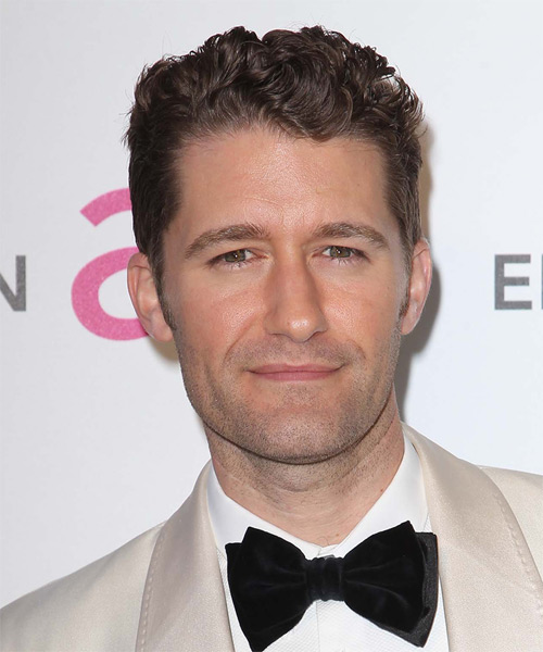 Matthew Morrison Short Wavy Hairstyle - Medium Brunette (Chocolate)