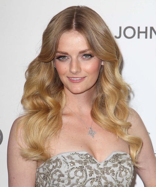 Lydia Hearst Long Wavy Hairstyle - Medium Blonde (Golden)