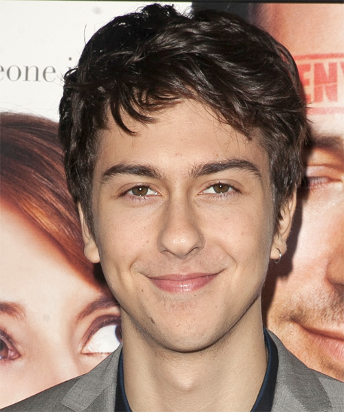 Nat Wolff Short Straight Casual Hairstyle - Medium Brunette Hair Color