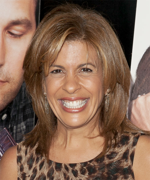 Hoda Kotb Medium Straight Hairstyle - Medium Brunette (Caramel)