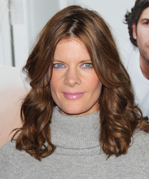 Michelle Stafford Medium Wavy Casual Hairstyle - Medium Brunette (Chocolate) Hair Color