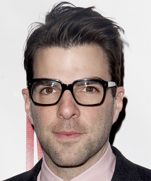 Zachary Quinto Short Straight Casual Hairstyle - Dark Brunette Hair Color