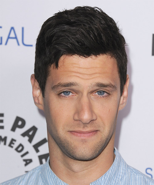 Justin Bartha Short Straight Hairstyle - Black