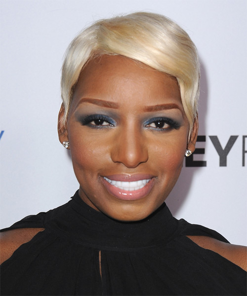 NeNe Leakes Short Straight Hairstyle - Light Blonde