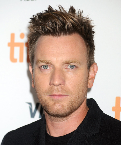 Ewan McGregor Short Straight Casual Hairstyle - Medium Brunette Hair Color