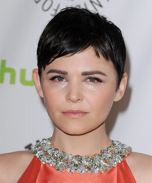 Ginnifer Goodwin Short Straight Pixie Hairstyle (Mocha)