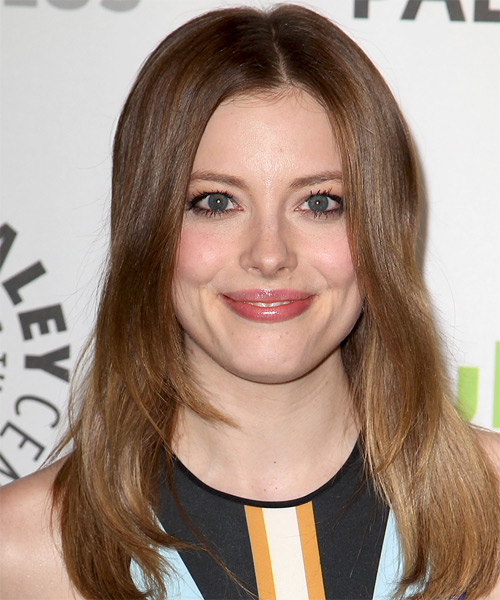 Gillian Jacobs Long Straight Casual  - Medium Brunette