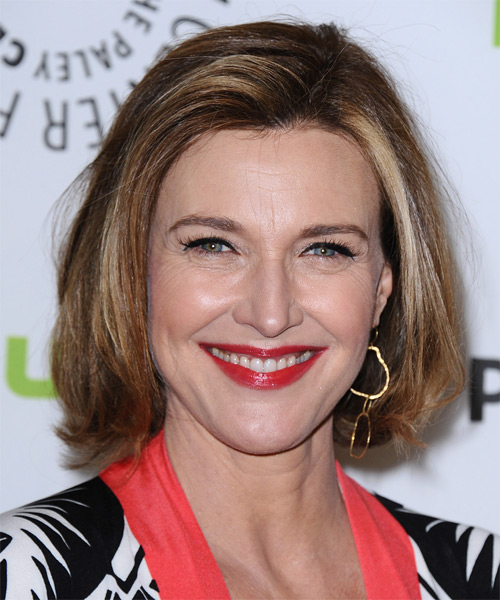 Brenda Strong Medium Straight Formal Hairstyle