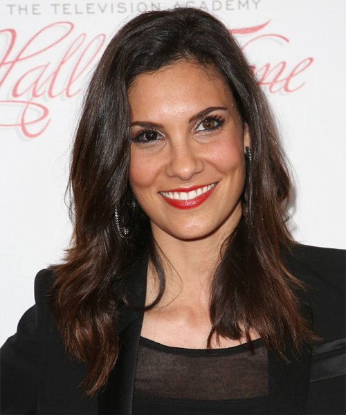 Daniela Ruah - Casual Long Straight Hairstyle