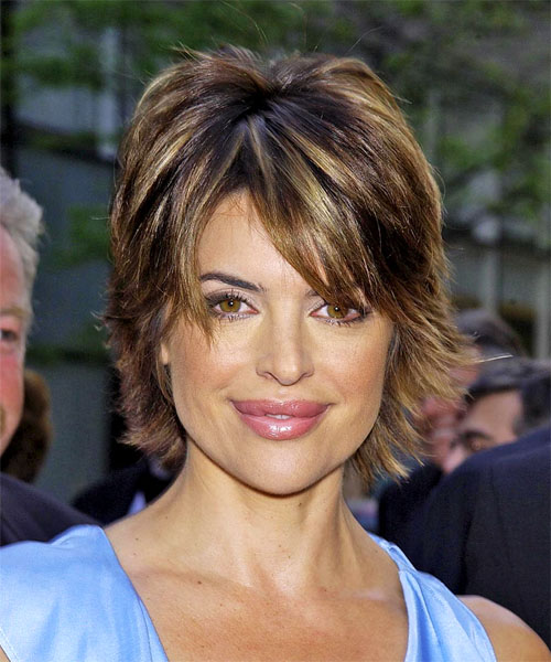 Lisa Rinna Short Straight hairstyle with bangs