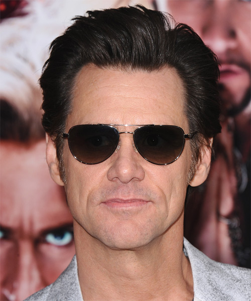 Jim Carrey Short Straight Hairstyle
