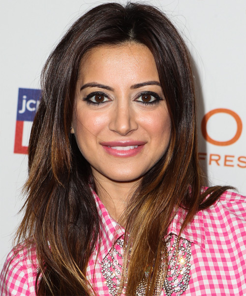 Noureen DeWulf Long Straight Casual Hairstyle