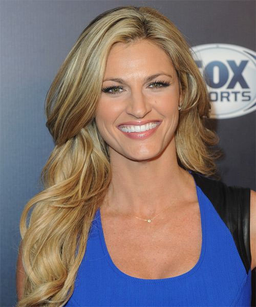 Erin Andrews Long Straight Hairstyle