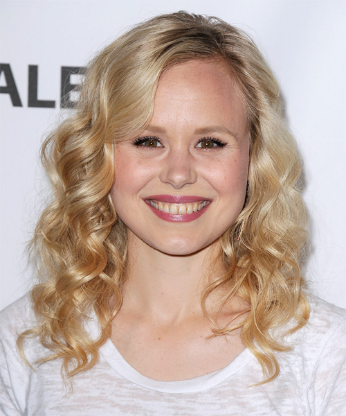 Alison Pill - Formal Medium Curly Hairstyle