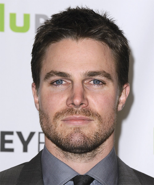 Stephen Amell - Casual Short Straight Hairstyle