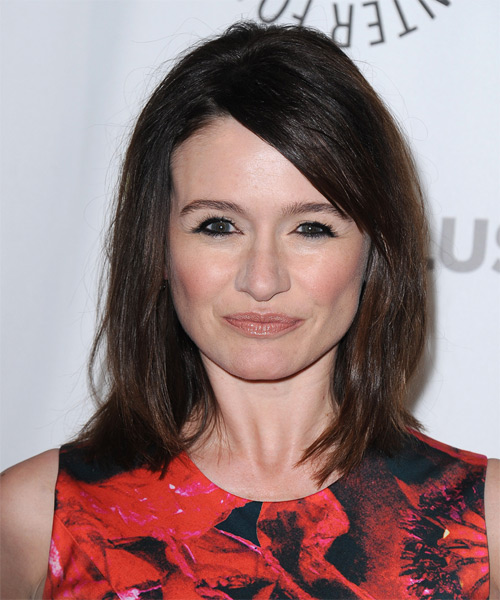 Emily Mortimer Medium Straight Hairstyle