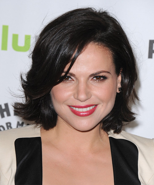 Lana Parrilla  - Formal Short Straight Hairstyle