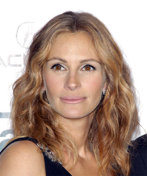 Julia Roberts - Casual Medium Wavy Hairstyle