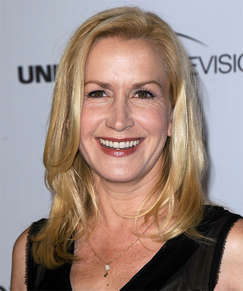 Angela Kinsey Medium Straight Hairstyle - Medium Blonde (Golden)