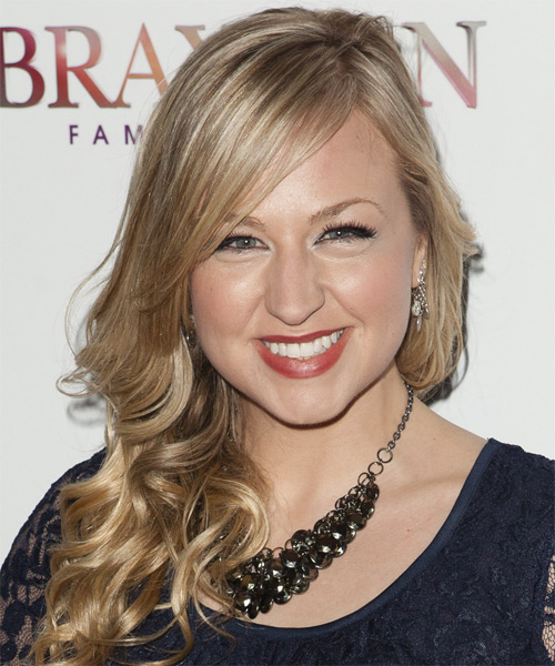 Bethany Watson Long Wavy Formal Hairstyle - Medium Blonde (Champagne) Hair Color