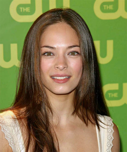 Kristin Kreuk Long Straight Casual Hairstyle