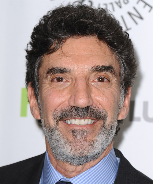 Chuck Lorre Short Wavy Hairstyle - Dark Grey