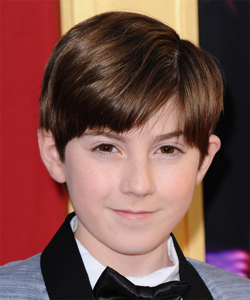 Mason Cook Short Straight Hairstyle - Medium Brunette (Chestnut)
