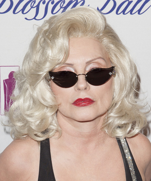 Debbie Harry Medium Wavy Hairstyle
