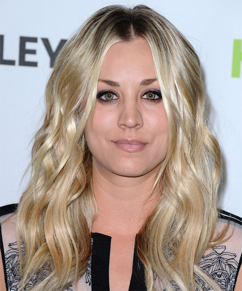 Kaley Cuoco Long Wavy Hairstyle - Light Blonde