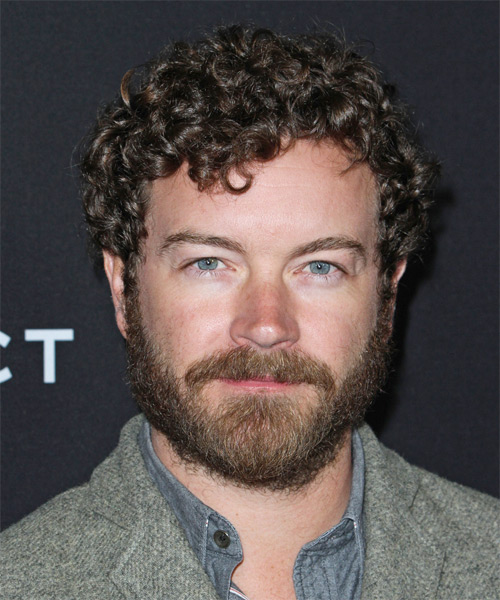 Danny Masterson Short Curly Casual Hairstyle - Dark Brunette Hair Color
