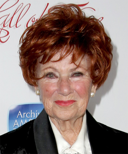 Marion Ross Short Straight Formal Hairstyle - Medium Red (Copper) Hair Color