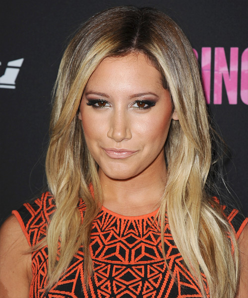 Ashley Tisdale Long Straight Casual Hairstyle - Dark Blonde Hair Color