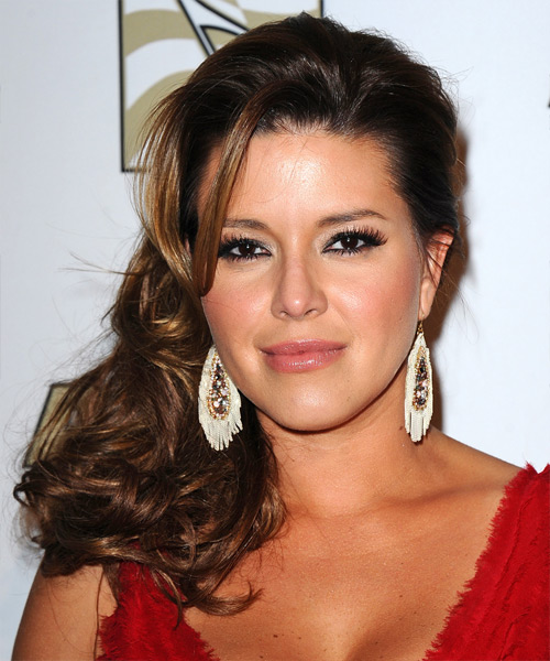 Alicia Machado Long Wavy Hairstyle