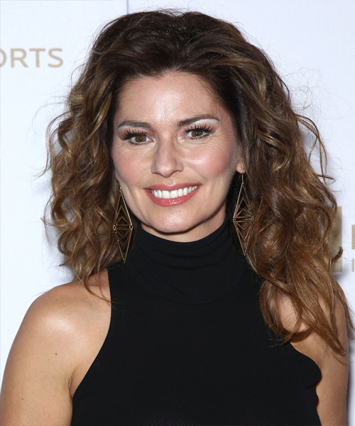 Shania Twain Long Wavy Casual