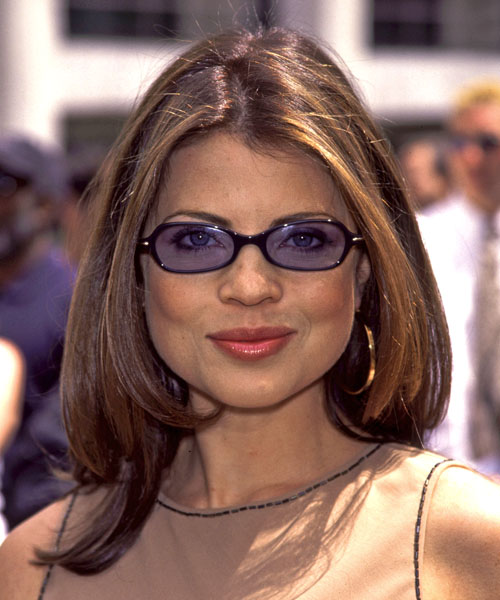 Yasmine Bleeth Long Straight Hairstyle