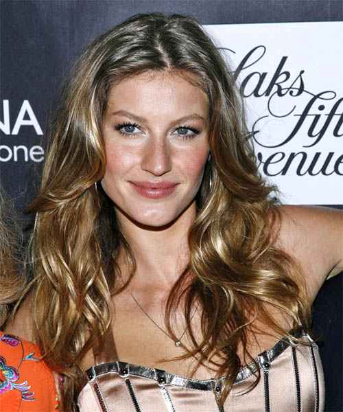 Gisele Bundchen Long Wavy Casual Hairstyle