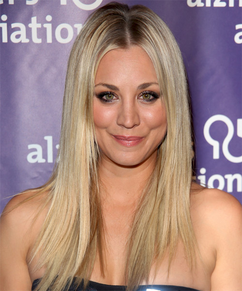 Kaley Cuoco Long Straight Formal