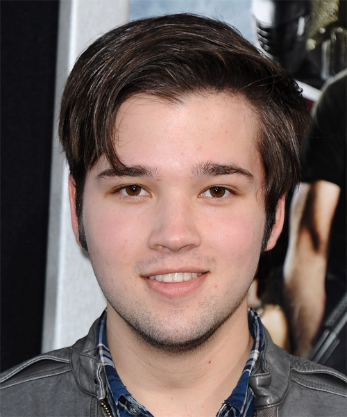 Nathan Kress Short Straight Casual Hairstyle - Dark Brunette Hair Color