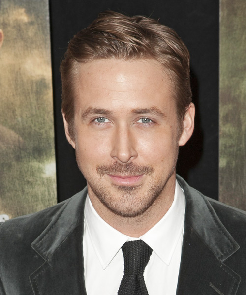 Ryan Gosling Short Straight Hairstyle - Light Brunette (Chestnut)