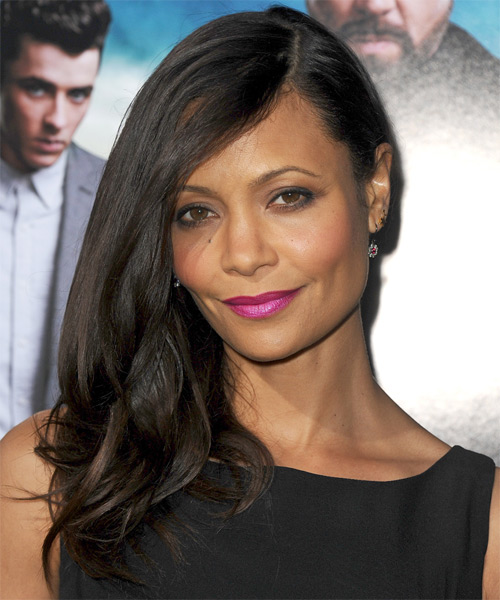 Thandie Newton Long Straight Hairstyle - Dark Brunette