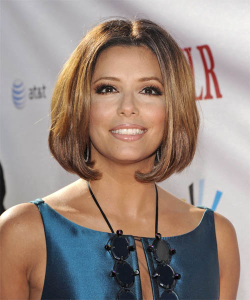 eva longoria hairstyles bob. Eva wears a graduated ob with