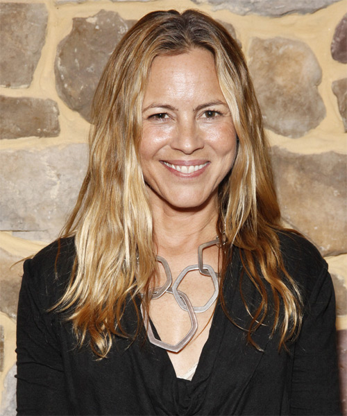 Maria Bello Long Straight Hairstyle - Dark Blonde