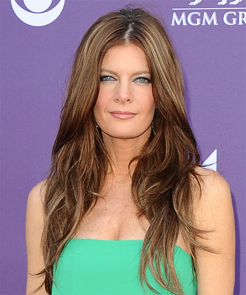 Michelle Stafford Long Straight Formal Hairstyle - Medium Brunette (Chestnut) Hair Color
