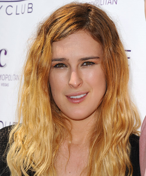 Rumer Willis Long Straight Hairstyle - Medium Blonde (Golden)