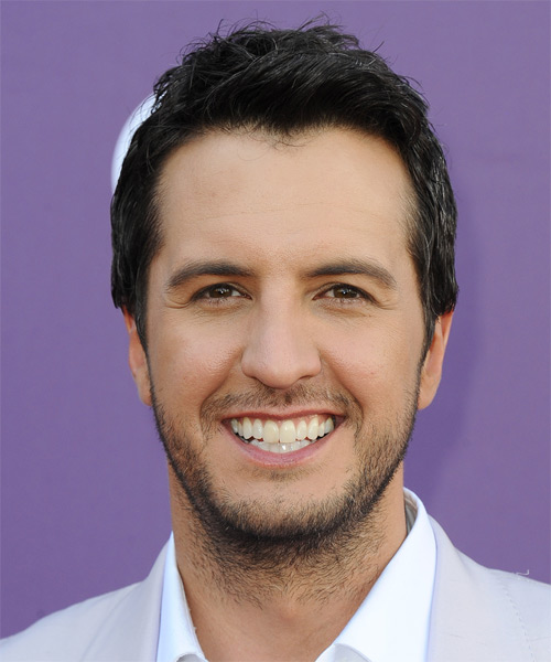 Luke Bryan Short Straight Casual Hairstyle - Black Hair Color