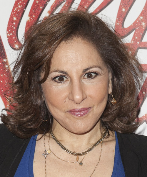 Kathy Najimy Medium Straight Formal Hairstyle - Medium Brunette (Chestnut) Hair Color
