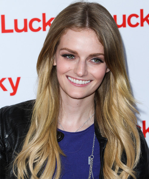 Lydia Hearst Long Straight Casual Hairstyle - Medium Blonde (Ash) Hair Color
