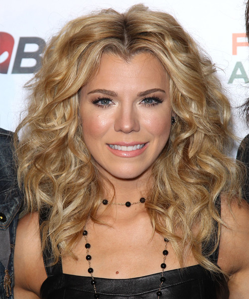 Kimberly Perry Medium Curly Hairstyle - Dark Blonde (Golden)